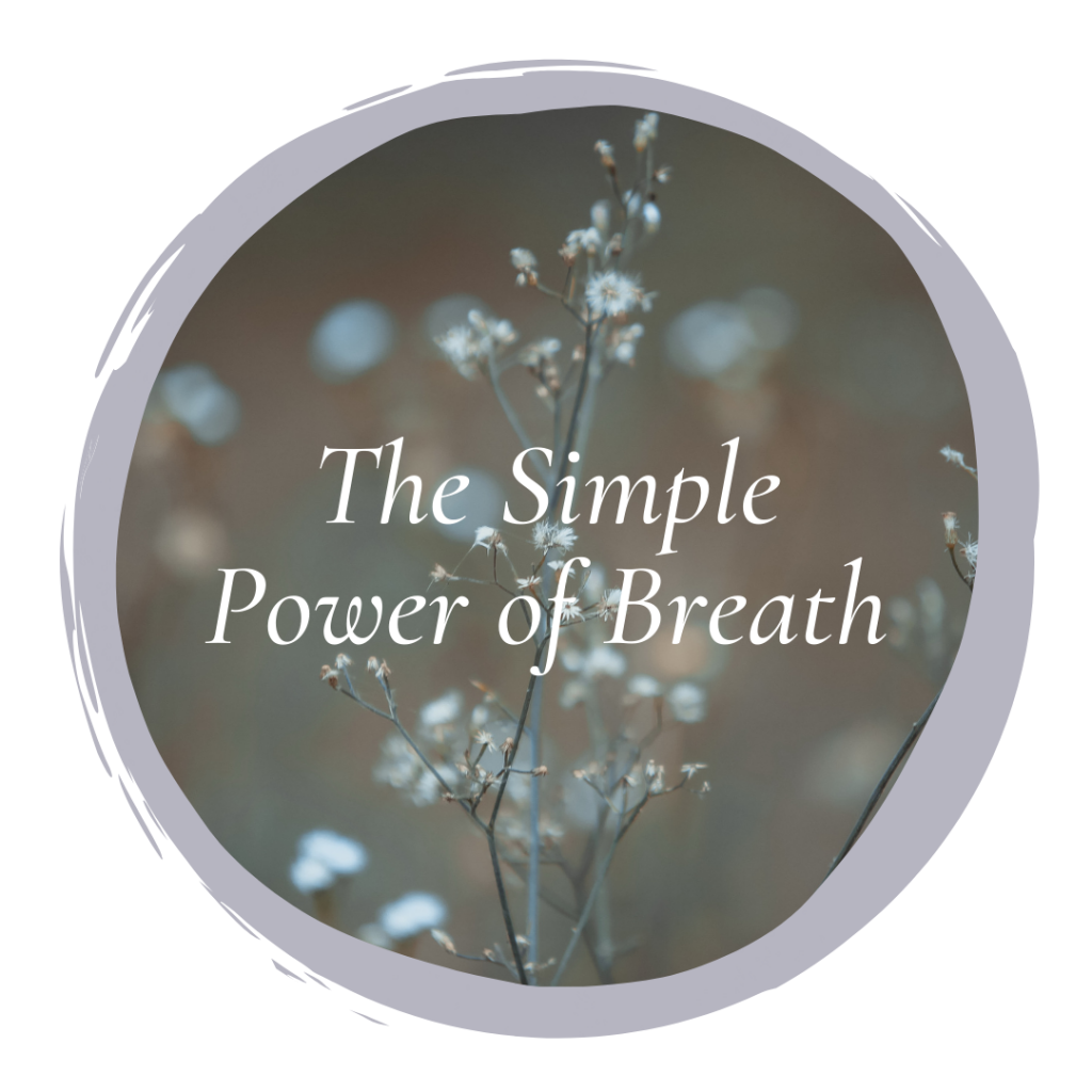 breath, the simple power of breath